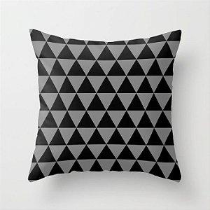 Capa de almofada Triângulos 2 Preto