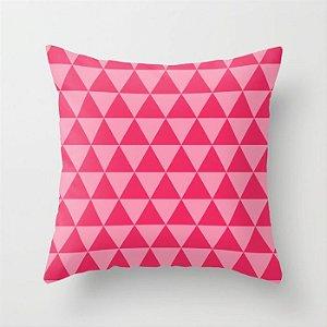 Capa de almofada Triângulos 2 Rosa chiclete