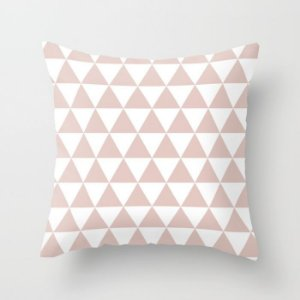 Capa de almofada Triângulos Rosa quartzo