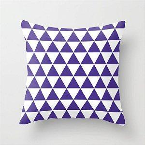 Capa de almofada Triângulos Roxo