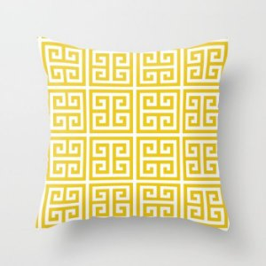 Capa de almofada Greek Amarelo