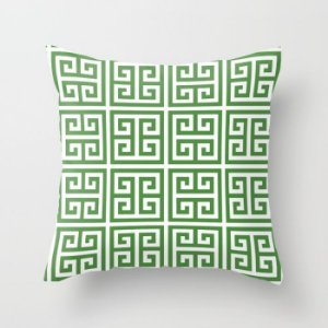 Capa de almofada Greek Verde