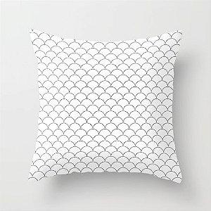 Capa de almofada Escamas Branca