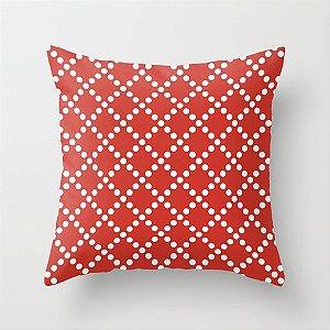 Capa de almofada Pearl Vermelho