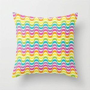 Capa de almofada Rainbow Waves