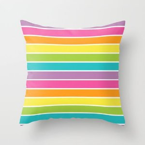 Capa de almofada Rainbow Listras 2