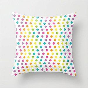 Capa de almofada Rainbow Zig Zag Dots