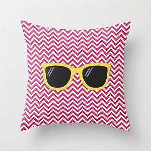 Capa de almofada Óculos Rosa e Amarelo