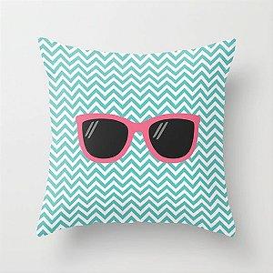Capa de almofada Óculos Azul e Rosa