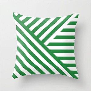 Capa de almofada Geometric Verde