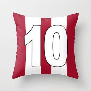 Capa de almofada Camisa 10 Vermelha