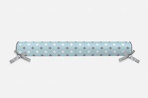 Rolo lateral para cama montessoriana Super Cute Azul Bebê e Cinza