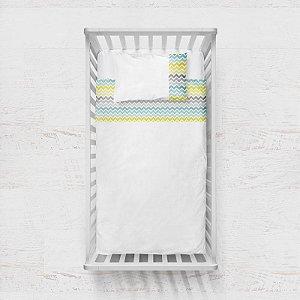 Jogo de lençol Citric Chevron