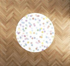 Playmat Confetti Colorido redondo