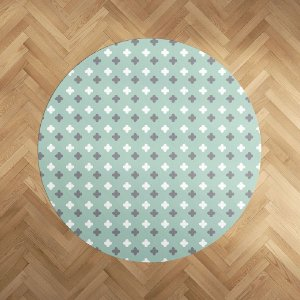 Playmat Super Cute menta redondo