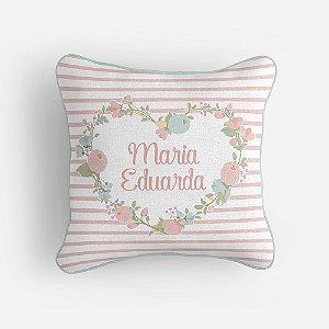 Capa de almofada Coração Floral personalizável