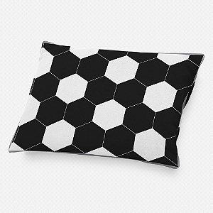 Almofada de cabeceira bola de Futebol preta