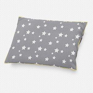 Almofada de cabeceira Cinza com Estrelas