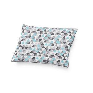 Almofada de cabeceira Tri cinza e azul