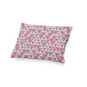 Almofada de cabeceira Tri Cinza e rosa