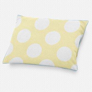 Almofada de cabeceira Amarelo Bebê com Bolas