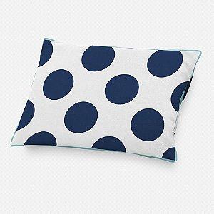 Almofada de cabeceira Bolas Azul Marinho