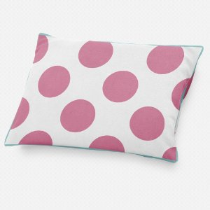 Almofada de cabeceira Bolas Rosa Chiclete