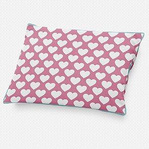 Almofada de cabeceira Corações Rosa Chiclete