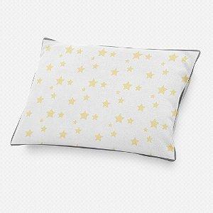 Almofada de cabeceira Estrelas Amarelo Bebê