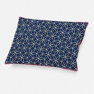 Almofada de cabeceira Lotus Azul Marinho