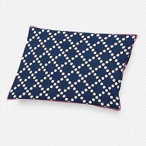 Almofada de cabeceira Pearl Azul Marinho