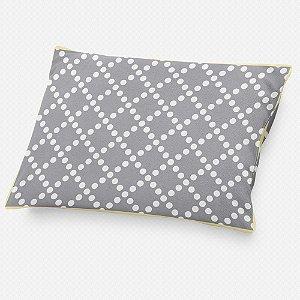 Almofada de cabeceira Pearl Cinza