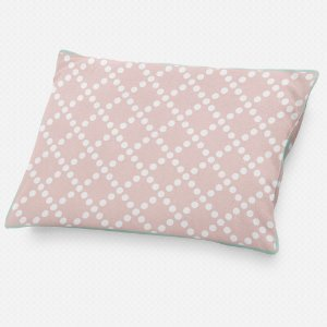 Almofada de cabeceira Pearl Rosa Quartzo