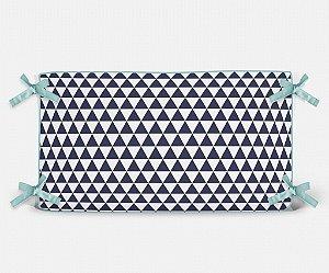 Cabeceira em espuma Triângulos Azul Marinho