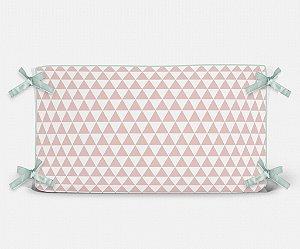 Cabeceira em espuma Triângulos Rosa Quartzo