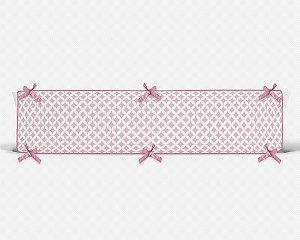 Par de laterais de berço em espuma Circles 2 Rosa bebê