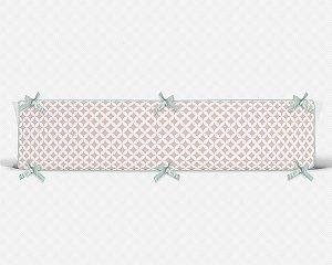 Lateral de berço em espuma Circles 2 Rosa Quartzo