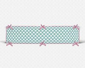 Par de laterais de berço em espuma Corações Tiffany