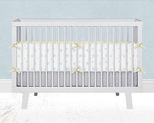 Par de laterais de berço em espuma Estrelas Azul bebê
