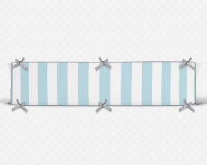 Lateral de berço em espuma Listras Azul bebê