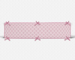 Par de laterais de berço em espuma Pearl Rosa bebê