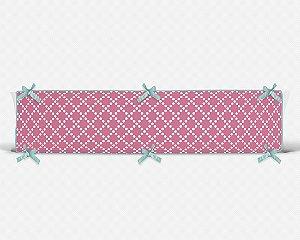 Lateral de berço em espuma Pearl Rosa Chiclete
