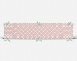 Lateral de berço em espuma Pearl Rosa Quartzo