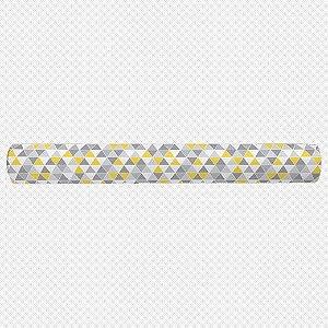 Par de rolos laterais para berço Tri Cinza e Amarelo