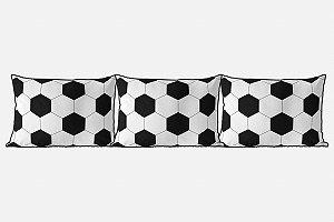 Kit almofadões para cama Bola de Futebol branca