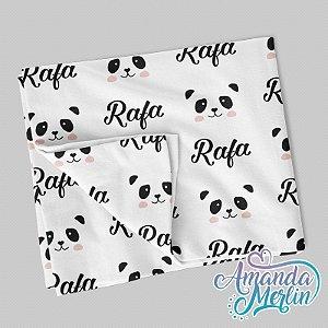 Manta berço Panda Personalizada