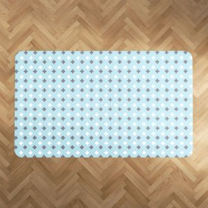 Playmat Super Cute azul bebê e cinza Retangular
