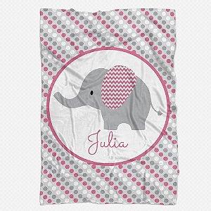 Manta Elefante Personalizada rosa chiclete