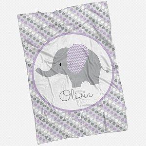 Manta Elefante Personalizada lilás
