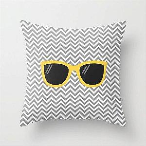 Capa de almofada Óculos Amarelo 40x40 ~ OUTLET